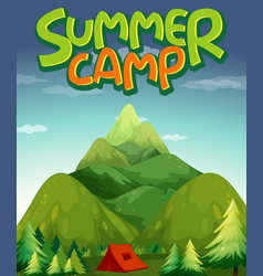 scene background design for word summer camp vector image