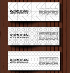 set graphic banners vector image