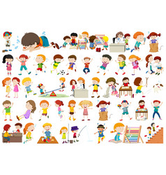 set of kids character vector image
