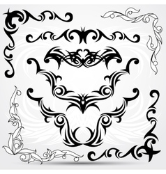 Set of tribal tattoo elements vector image