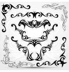Set of tribal tattoo elements vector