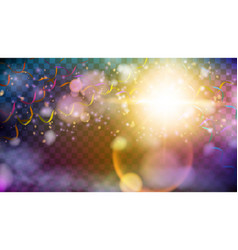 shining party background with color serpentine vector image