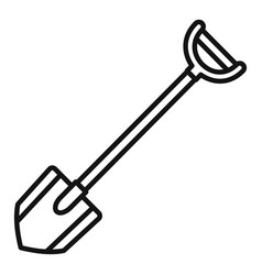 shovel icon outline style vector image