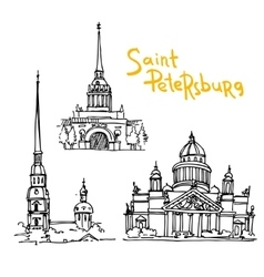 sketching saint petersburg vector image
