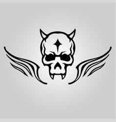 skull head tattoo logo icon design vector image