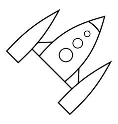 Space rocket icon outline style vector