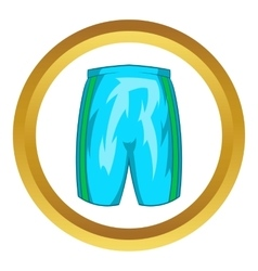 Sports shorts icon vector image