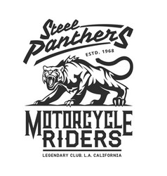 steel panthers american california bikers club vector image