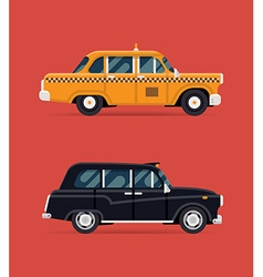 Taxi Car Icon Set vector image
