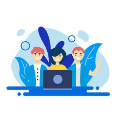 Teamwork design easy editable vector