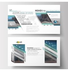 Templates in hd size for presentation slides easy vector
