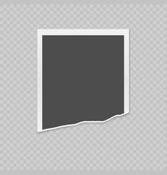 Torn photo card vector