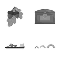 Travel transport and other monochrome icon in vector
