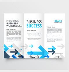Tri fold brochure design in creative business vector