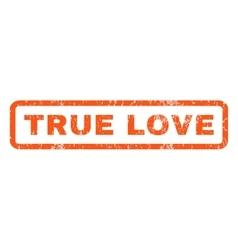 True love rubber stamp vector