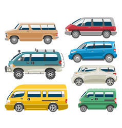 van car auto vehicle minivan family minibus vector image