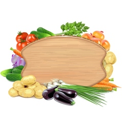 Vegetable Board vector image