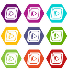 Video icons set 9 vector
