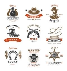 Vintage Sheriff Label Set vector