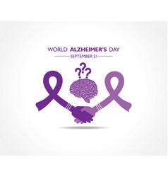 World alzheimers day observed on september 21 vector