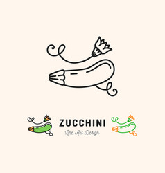 zucchini icon courgette symbol vegetables vector image