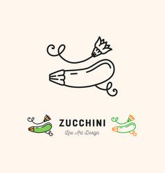 Zucchini icon courgette symbol vegetables vector