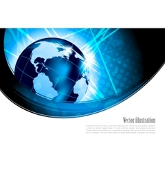 bright background with globe vector image vector image