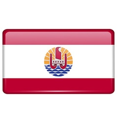 Flags french polynesia in the form of a magnet on vector image vector image