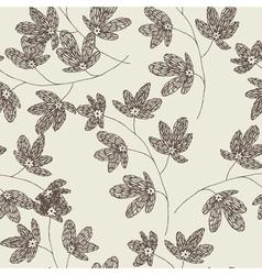 leaf drawing wallpaper vector image vector image