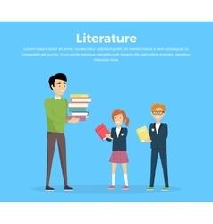 Literature Reading Concept vector image