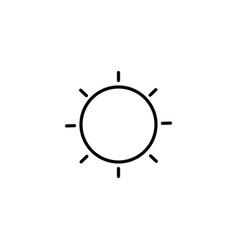 low brightness icon vector image