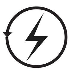renewable energy icon on white background recycle vector image