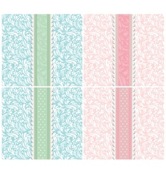 Set of background for invitation card vector image vector image