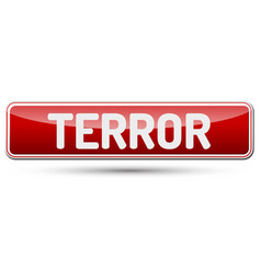terror - abstract beautiful button with text vector image