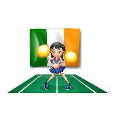 The flag of Ireland and the cheerdancer vector image vector image