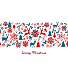 Christmas banner seamless pattern vector image vector image