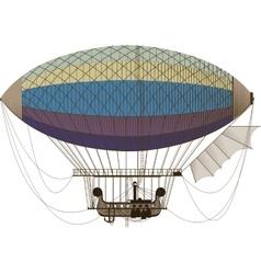 Fantastic retro dirigible vector image