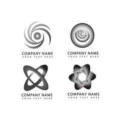abstract flower and circle logo symbols and icons vector image