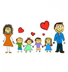 cartoon family vector image vector image