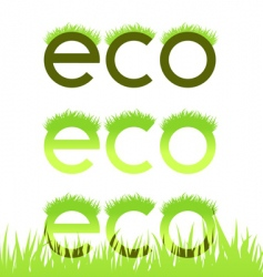 grassy ecological emblem vector image vector image
