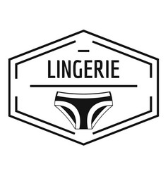 lingerie body logo simple black style vector image vector image