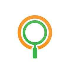 magnifying glass logo image vector image