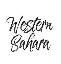 Western sahara text design calligraphy vector