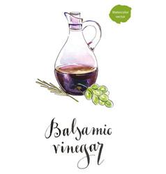 bottle of balsamic vinegar vector image vector image