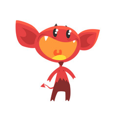cartoon flat of devil with vector image
