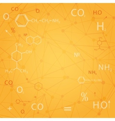 chemical abstract background vector image vector image