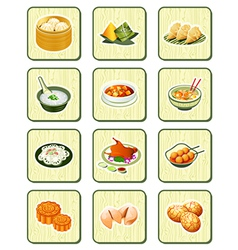 Chinese icons - bamboo series vector