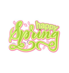 happy spring vector image