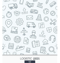 Logistic business wallpaper Delivery and vector image vector image