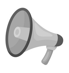 megaphone icon in monochrome style isolated on vector image